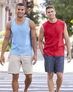 bulk custom shirts gildan g220 adult ultra cotton 6 oz personlized custom tank top red blue