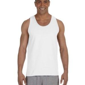 bulk custom shirts gildan g220 adult ultra cotton 6 oz personlized custom tank top white