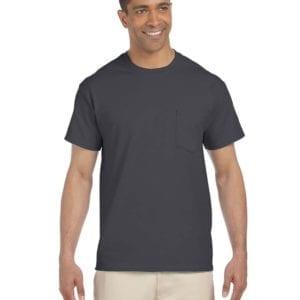 bulk custom shirts gildan g230 ultra cotton custom pocket t-shirt charcoal