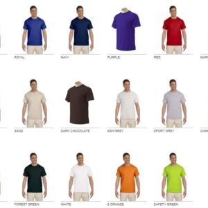 bulk custom shirts gildan g230 ultra cotton custom pocket t-shirt colors