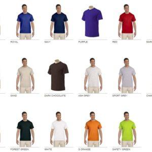 bulk custom shirts gildan g230 ultra cotton custom pocket t-shirt colors