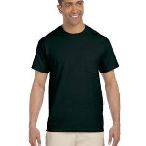 bulk custom shirts gildan g230 ultra cotton custom pocket t-shirt forest green