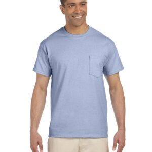 bulk custom shirts gildan g230 ultra cotton custom pocket t-shirt light blue