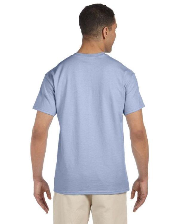 bulk custom shirts gildan g230 ultra cotton custom pocket t-shirt light blue back