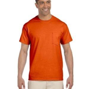 bulk custom shirts gildan g230 ultra cotton custom pocket t-shirt orange