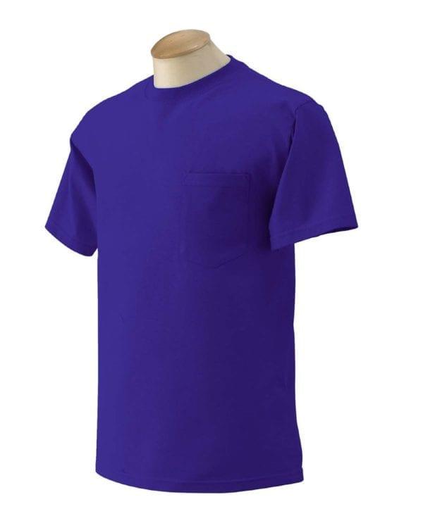 bulk custom shirts gildan g230 ultra cotton custom pocket t-shirt purple