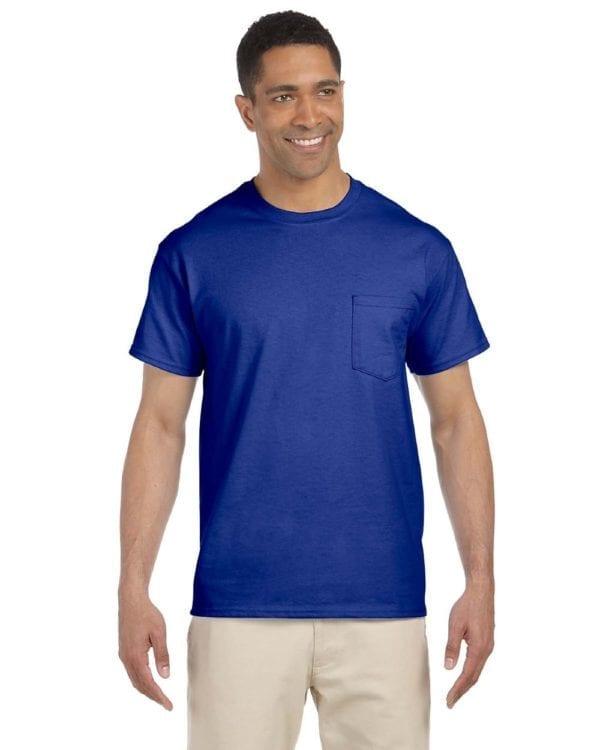 bulk custom shirts gildan g230 ultra cotton custom pocket t-shirt royal