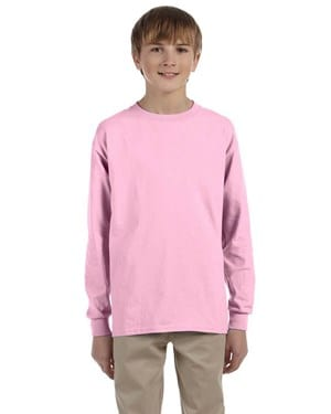 bulk custom shirts - gildan-g240b-light-pink