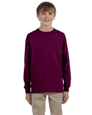 bulk custom shirts - gildan-g240b-maroon