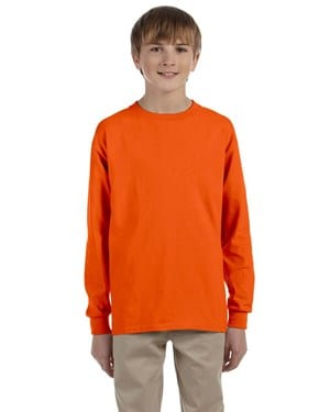 bulk custom shirts - gildan-g240b-orange