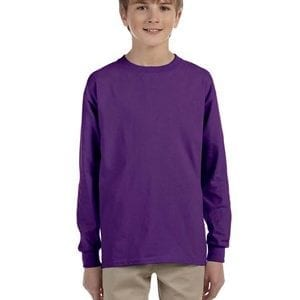 bulk custom shirts - gildan-g240b-purple
