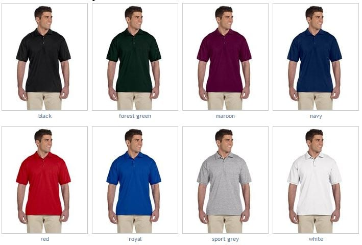 319341b0 Gildan G280 Adult Ultra Cotton® Adult 6oz Polo | Bulk Custom Shirts