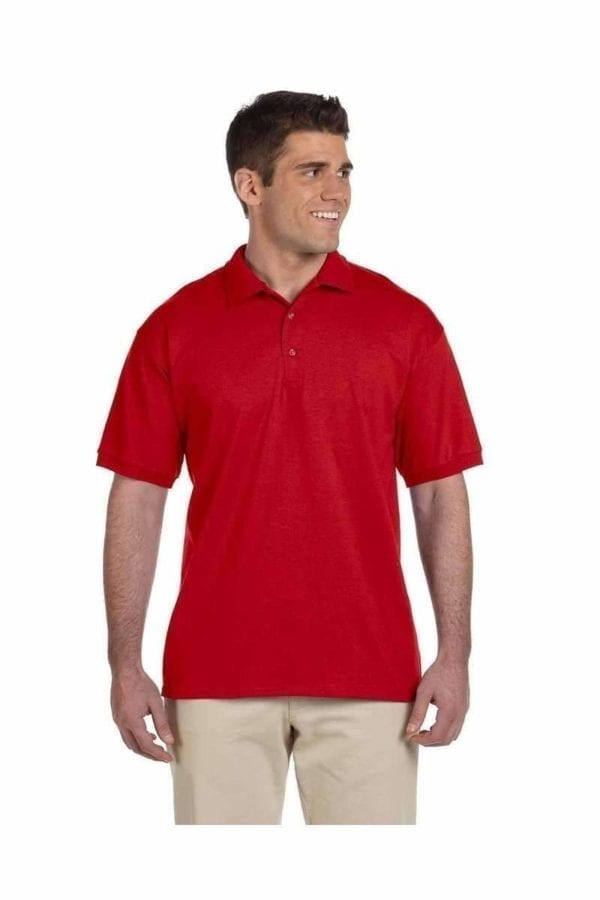 bulk custom shirts gildan g280 ultra cotton 6oz custom polo red