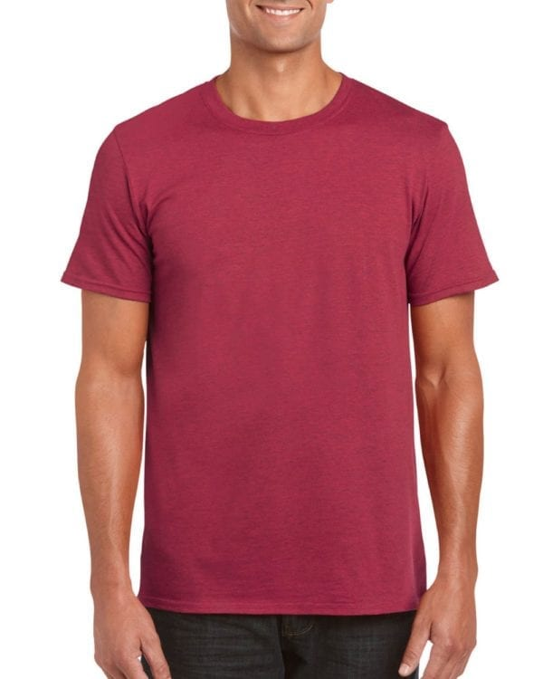 bulk custom shirts gildan g640 custom softstyle 4.5 oz t shirt antique cherry red