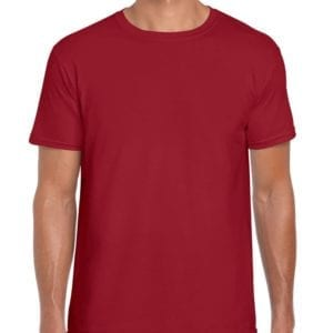 bulk custom shirts gildan g640 custom softstyle 4.5 oz t shirt cardinal red