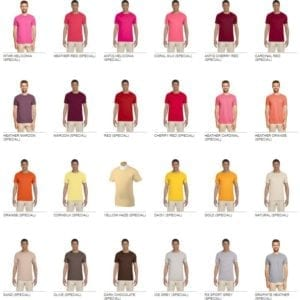 bulk custom shirts gildan g640 custom softstyle 4.5 oz t shirt colors 2