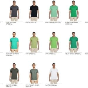 bulk custom shirts gildan g640 custom softstyle 4.5 oz t shirt colors 3