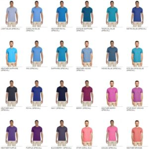bulk custom shirts gildan g640 custom softstyle 4.5 oz t shirt colors