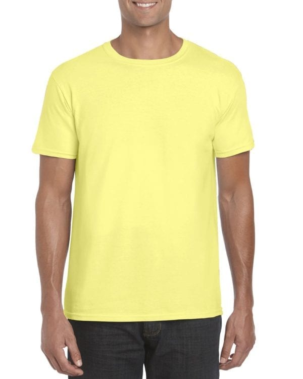 bulk custom shirts gildan g640 custom softstyle 4.5 oz t shirt cornsilk