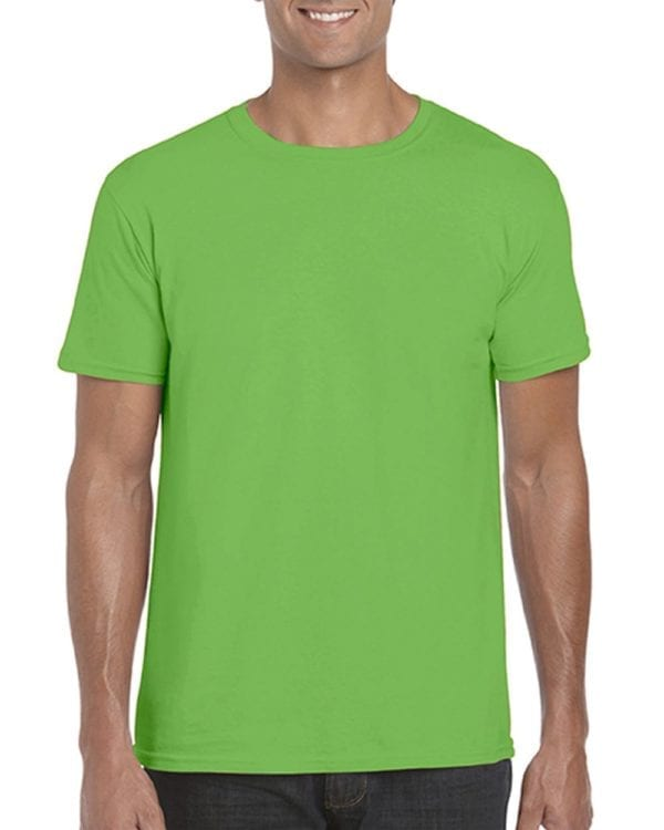 bulk custom shirts gildan g640 custom softstyle 4.5 oz t shirt electric green