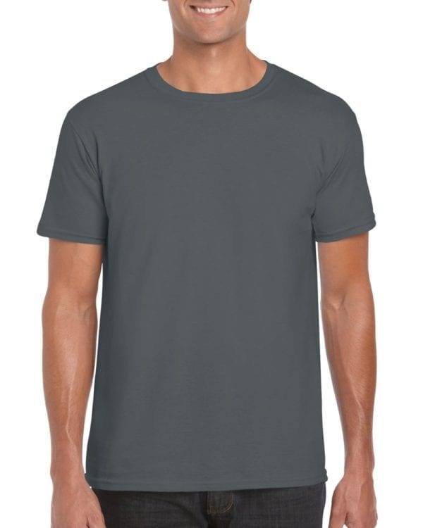 bulk custom shirts gildan g640 custom softstyle 4.5 oz t shirt heather charcoal