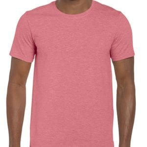 bulk custom shirts gildan g640 custom softstyle 4.5 oz t shirt heather coral silk