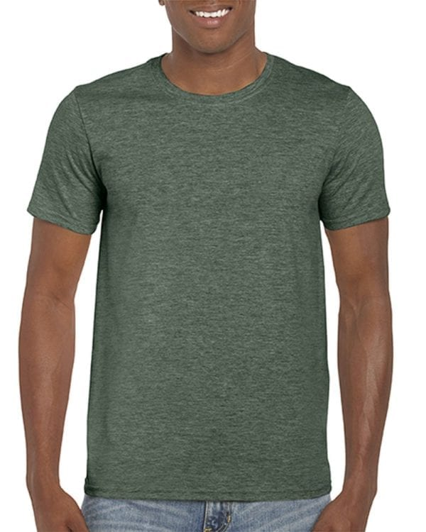 bulk custom shirts gildan g640 custom softstyle 4.5 oz t shirt heather forest green