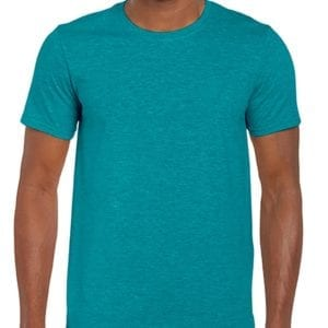 bulk custom shirts gildan g640 custom softstyle 4.5 oz t shirt heather galapagos blue