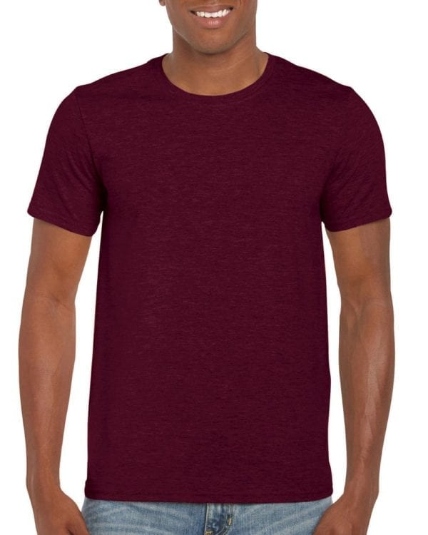 bulk custom shirts gildan g640 custom softstyle 4.5 oz t shirt maroon