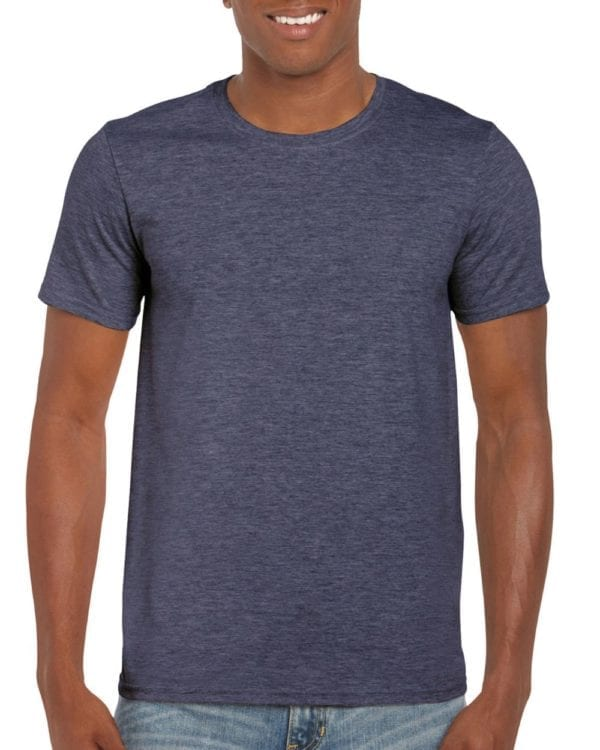 bulk custom shirts gildan g640 custom softstyle 4.5 oz t shirt heather navy