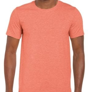 bulk custom shirts gildan g640 custom softstyle 4.5 oz t shirt heather orange
