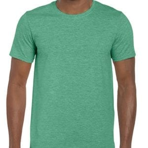 bulk custom shirts gildan g640 custom softstyle 4.5 oz t shirt heather seafoam