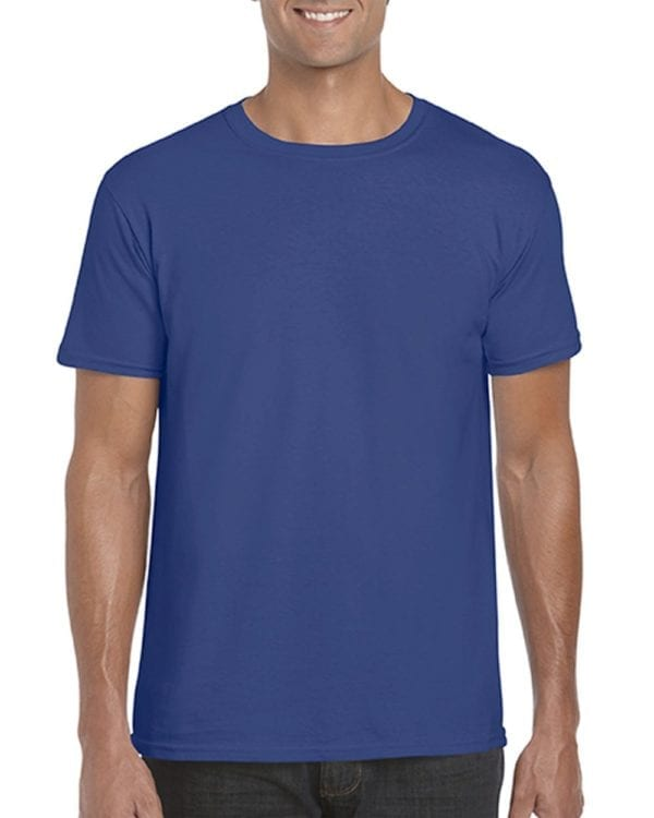 bulk custom shirts gildan g640 custom softstyle 4.5 oz t shirt metro blue