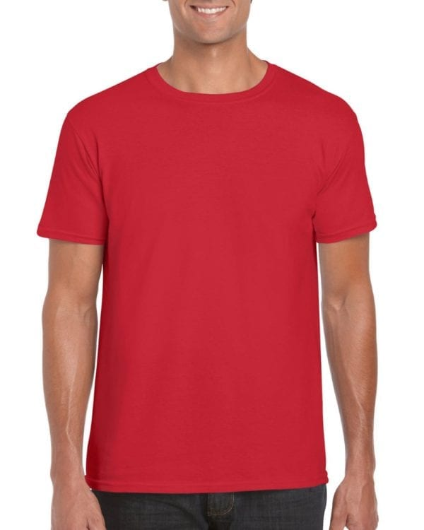 bulk custom shirts gildan g640 custom softstyle 4.5 oz t shirt red