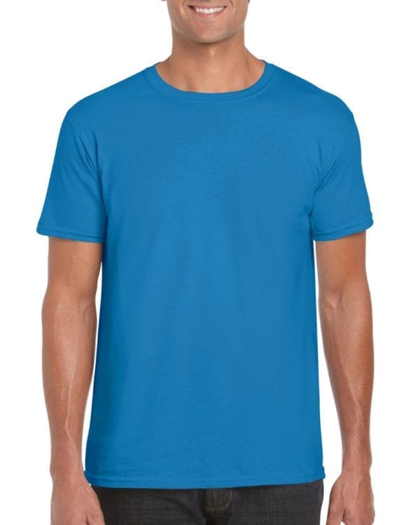 bulk custom shirts gildan g640 custom softstyle 4.5 oz t shirt sapphire 1