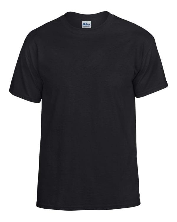 bulk custom shirts gildan g800 50-50 5.5 oz personlized t-shirts black