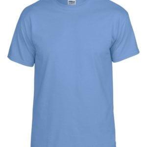 bulk custom shirts gildan g800 50-50 5.5 oz personlized t-shirts carolina blue