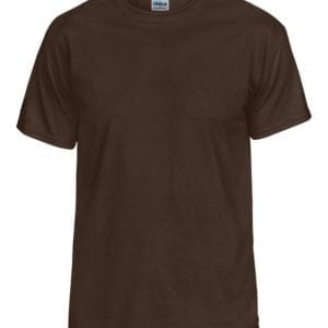 bulk custom shirts gildan g800 50-50 5.5 oz personlized t-shirts dark chocolate