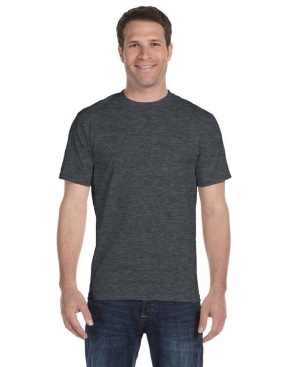 bulk custom shirts gildan g800 50-50 5.5 oz personlized t-shirts dark heather