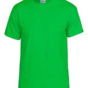 bulk custom shirts gildan g800 50-50 5.5 oz personlized t-shirts electric green