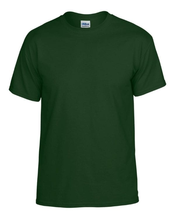 bulk custom shirts gildan g800 50-50 5.5 oz personlized t-shirts forest green