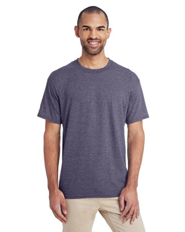 bulk custom shirts gildan g800 50-50 5.5 oz personlized t-shirts heather sport dark navy