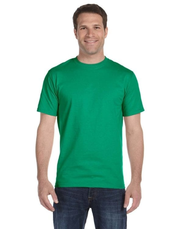 bulk custom shirts gildan g800 50-50 5.5 oz personlized t-shirts kelly green