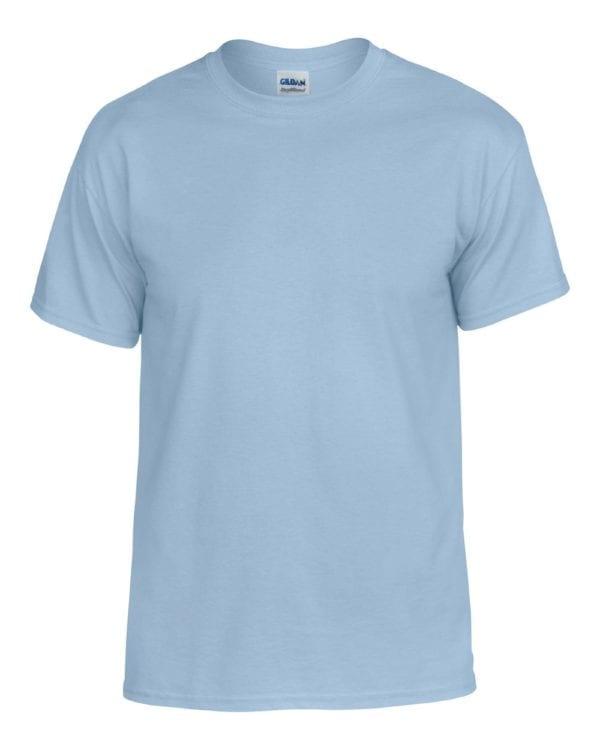 bulk custom shirts gildan g800 50-50 5.5 oz personlized t-shirts light blue