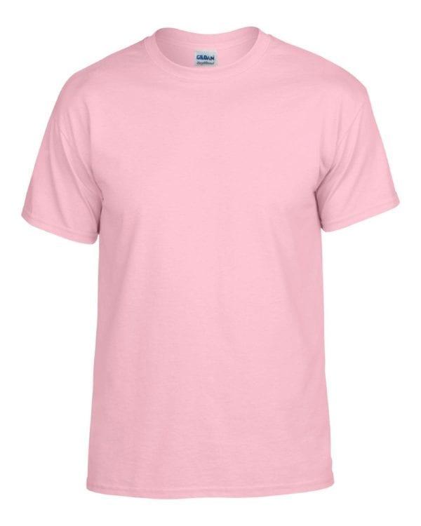 bulk custom shirts gildan g800 50-50 5.5 oz personlized t-shirts light pink