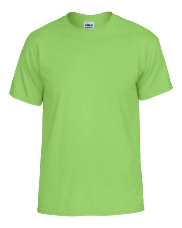 bulk custom shirts gildan g800 50-50 5.5 oz personlized t-shirts lime
