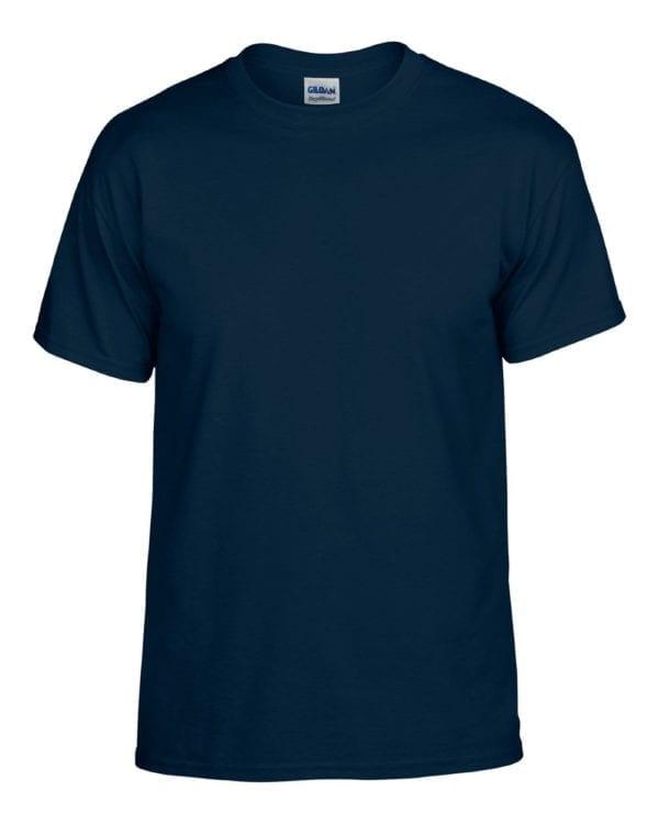 bulk custom shirts gildan g800 50-50 5.5 oz personlized t-shirts navy