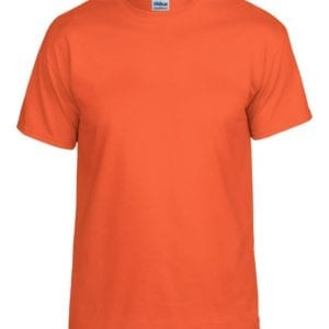 bulk custom shirts gildan g800 50-50 5.5 oz personlized t-shirts orange