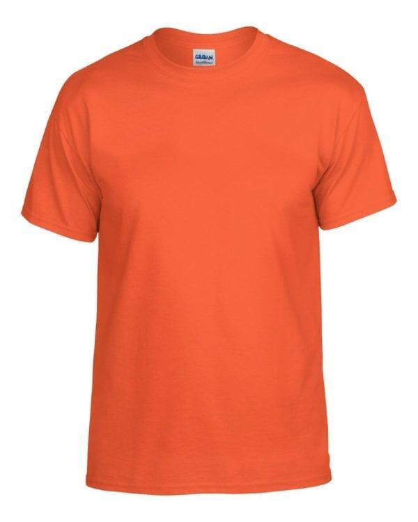 bulk custom shirts gildan g800 50-50 5.5 oz personlized t-shirts orange