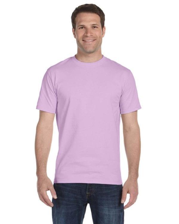 bulk custom shirts gildan g800 50-50 5.5 oz personlized t-shirts orchid